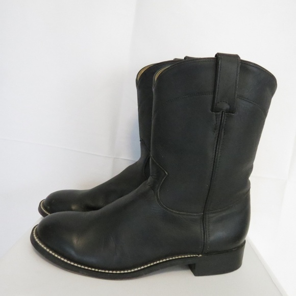 21410ce14596 Justin Boots Other - Justin Junior 6D Boots Western Cowboy Black